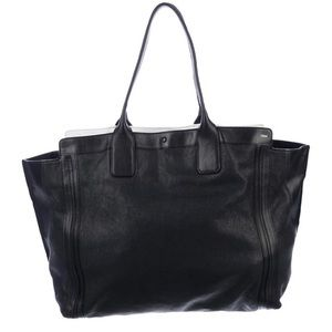 Chloe black leather Allison tote